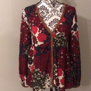Zara Button Down Top Size Medium